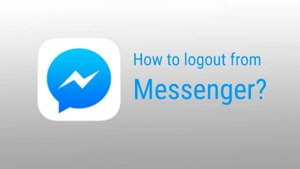 đăng xuất facebook messenger