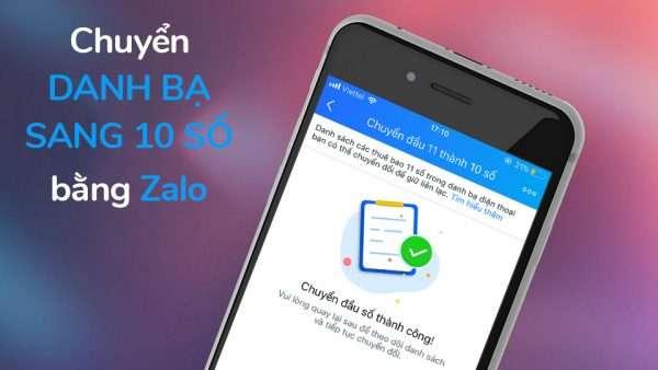 Hướng dẫn: Chuyển đổi danh bạ từ 11 số về 10 số bằng Zalo