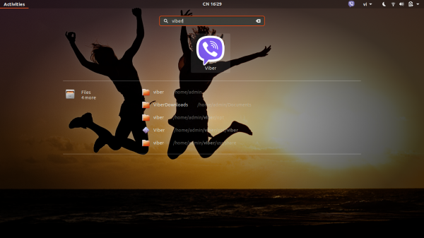 Click on the Viber icon to start the Viber application.