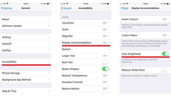 Thay đổi độ sáng màn hình trên iPhone và iPad