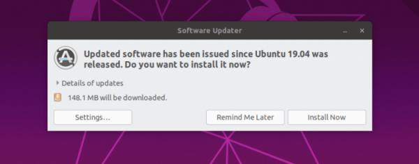 Cập nhật hệ thống ubuntu 19.04