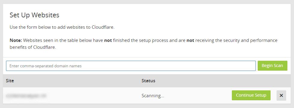 thiết lập Cloudflare CDN