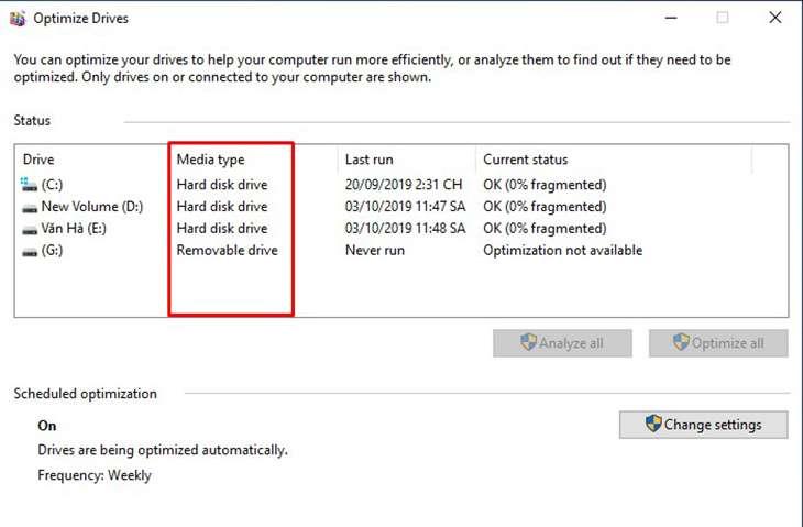 Kiểm tra ổ SSD