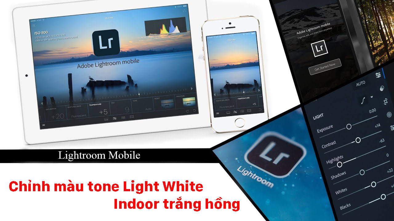 Chỉnh màu tone Light White – Indoor trắng hồng bằng Lightroom Mobile – P8