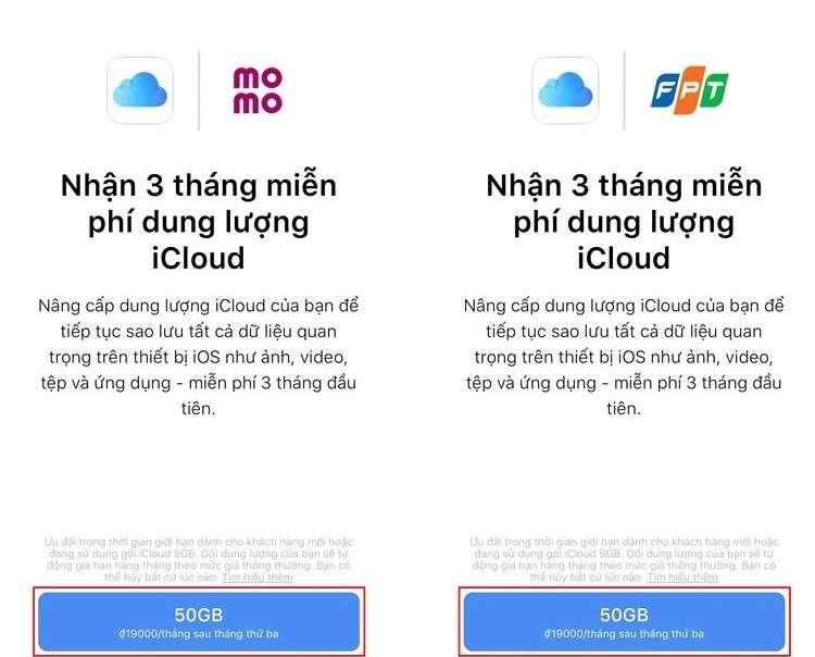 Hướng dẫn nhận 9 tháng icloud miễn phí với 50GB/tháng