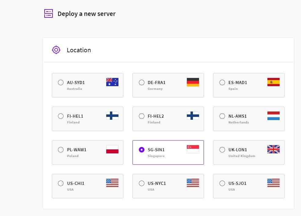 UpCloud có 9 datacenter đặt tại các nước trên thế giới